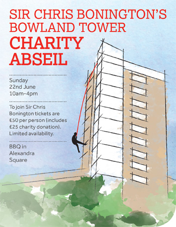 Charity Abseil by Sir Chris Bonington