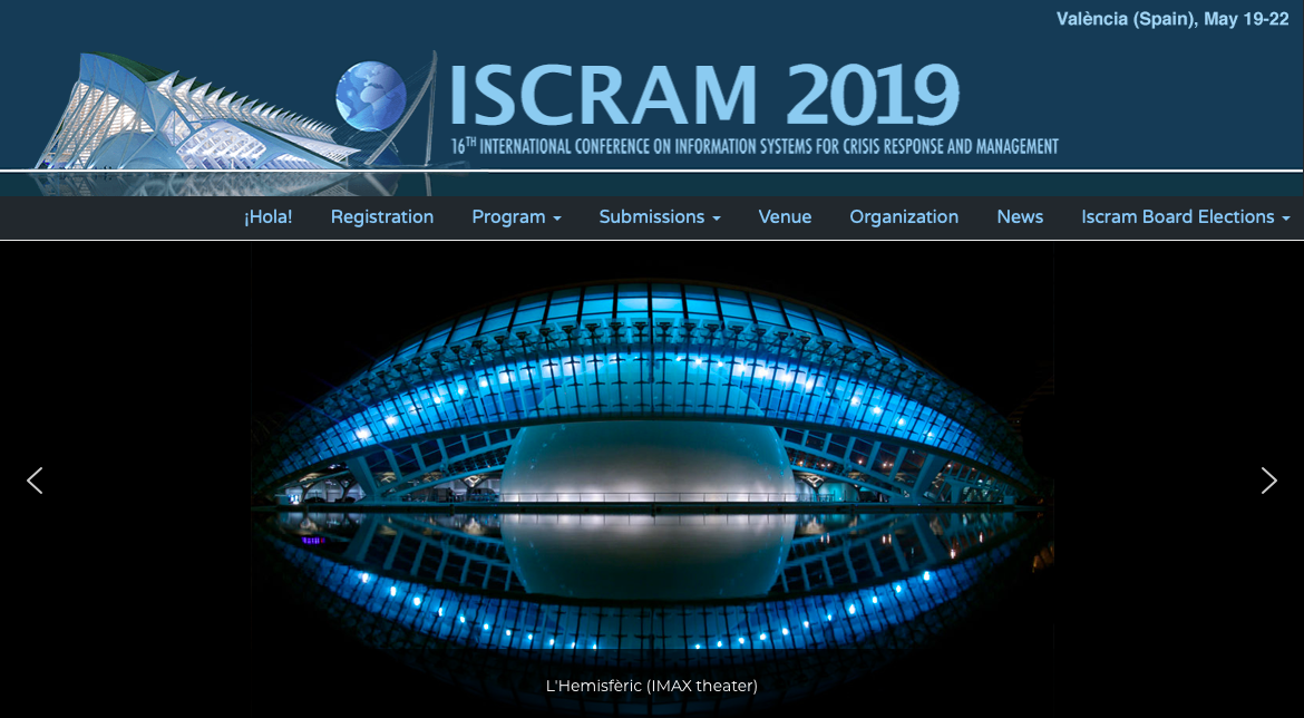 Making IT personal: Monika Buscher and Lixiong Chen at ISCRAM 2019