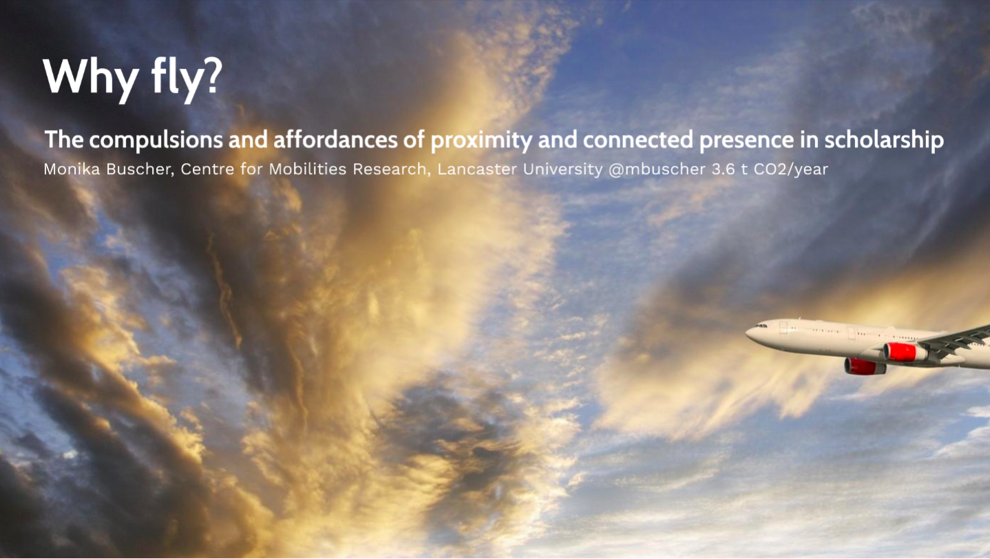 Why Fly? Sheffield Symposium on 'Reducing academic flying'