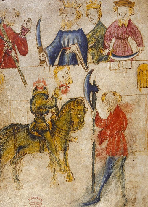 Illustration from Sir Gawain and the Green Knight Manuscript
