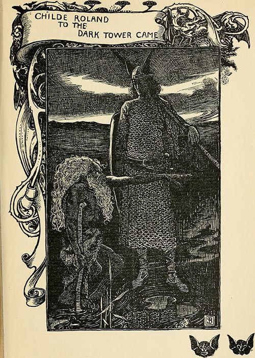 Illustration from Childe Roland to the Dark Tower Came