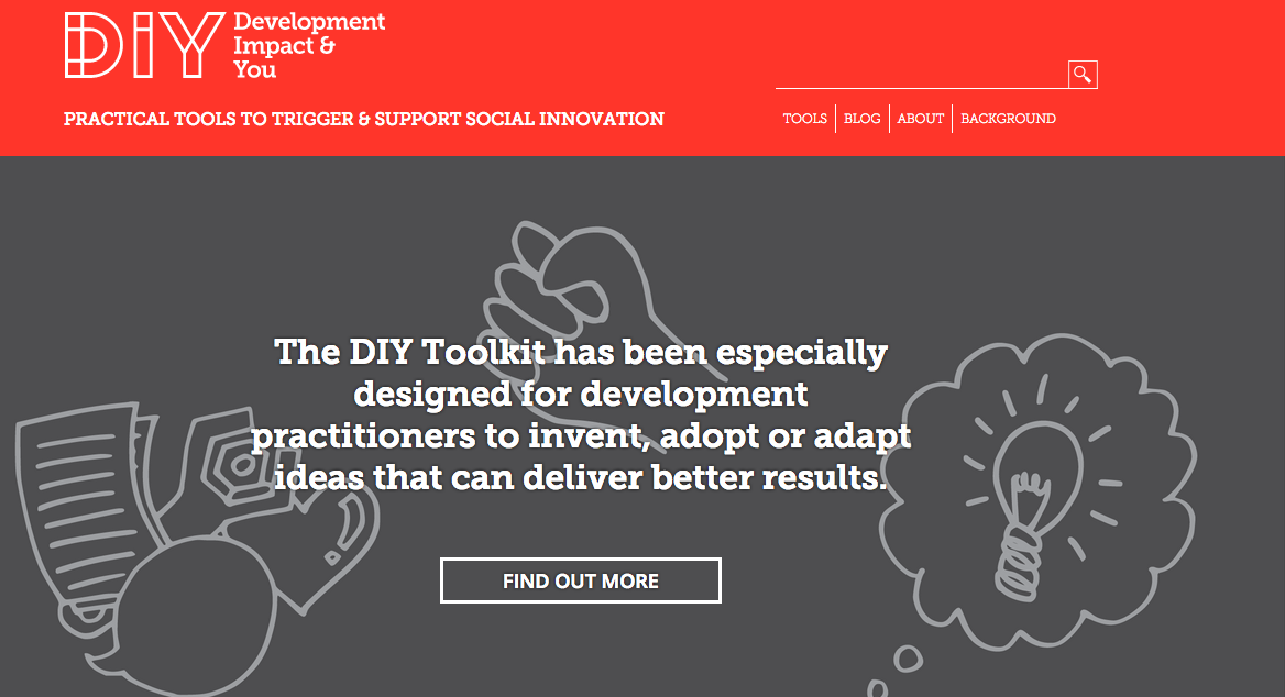 Image is the home page of www.diytoolkit.org