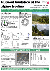 Poster thumbnail for 'Nutrient limitation at the alpine treeline'