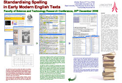 Poster thumbnail for 'Standardising Spelling in Early Modern English Texts'