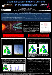 Poster thumbnail for 'Geomagnetically Induced Currents in the National Grid'