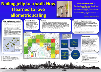 Poster thumbnail for 'Nailing jelly to a wall: How I learned to love allometric scaling'