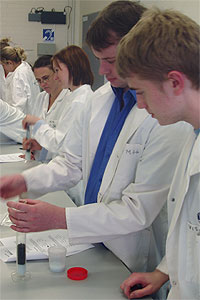 Pupils from local schools get hands-on experience of learning in the lab
