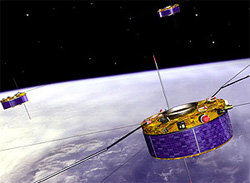 Artist's impression of Cluster spacecraft (Image credit: ESA)