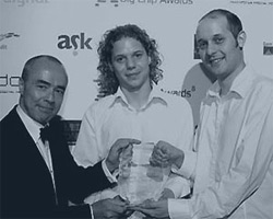 NuBlue Beginnings - receiving a Big Chip award in 2006