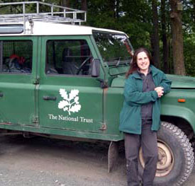 Moira Herring at work for The National Trust