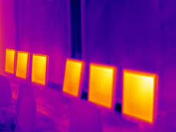A thermal imaging camera identified areas which were losing the most energy