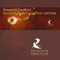 Research Councils Business Plan Competition 2007-08