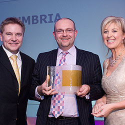 Business Development Manager Graham Bell of Penrillian accepting the award