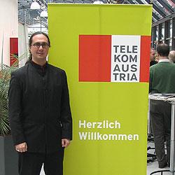 Research Fellow Adam Lindsay at Telekom Austria in Vienna