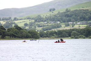 Lake coring on Basenthwaite Lake