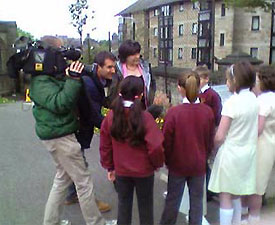 Filming at Cathedral School