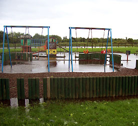flooded playground Hull, 2007