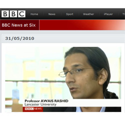 Professor Awais Rashid speaking about the research on BBC 1's Six O'Clock News courtesy of BBC News online