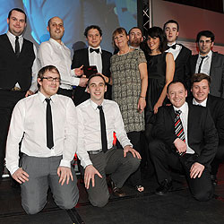 The NuBlue Team are awarded Digital Business Of The Year
