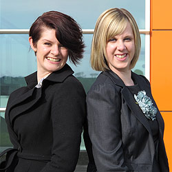 InfoLab21 Business Relationship Officers Samantha Winder and Clare Edwards