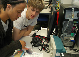 An electronics workshop at the Science and Technology Taster Day
