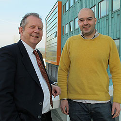 Mark Woodward, Sales Director, the Paper Cup Company with InfoLab21 Graduate Academy Member Ricardo de Sousa