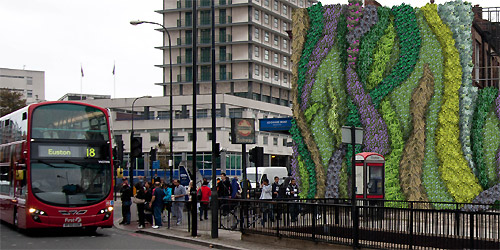 Green walls, such as this one at Edgware Road Tube station, can reduce pollution (image: Transport for London)