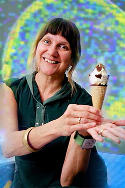 Dr Laura Kormos will give the first lecture: 'Neutrinos are not ice cream (and other quantum nursery rhymes)'