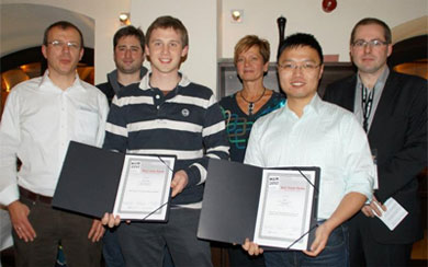 John Hardy (third from left) receiving the award at MUM12