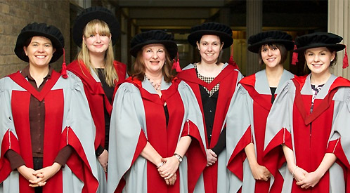 (l-r) Judith Lunn, Erin Beatty, Alex Sandham, Emma Threadgold, Stephanie Malone and Felicity Wolohan