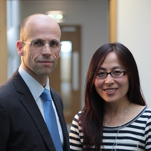 Lancaster China Catalyst programme team Mark Beresford and Jing Lu.