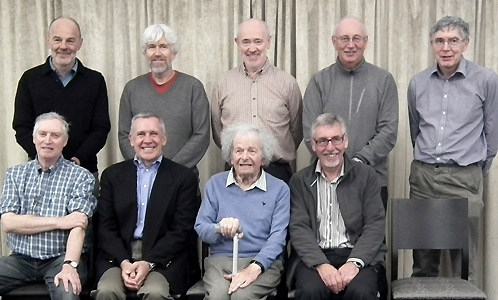 Back (l-r): Frank Bozic, Chris Erdal, David Griffiths, Roy Quipp, Jim Hawking. Front (l-r): Stephen Poole, Stuart Lunn, Michael French, Derek Kingsland