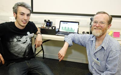 Tripod's Matt Potts and technology consultant Graham Oakes who met through Lancaster University's ISIS programme