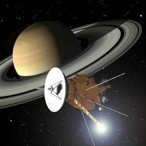 NASA artist concept of Cassini at Saturn