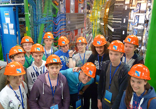 Morecambe High School pupils at CERN's Large Hadron Collider