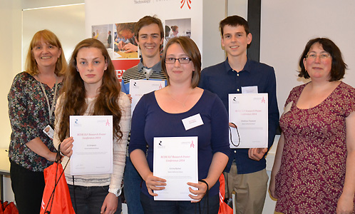 Some of the students who took part in the poster session