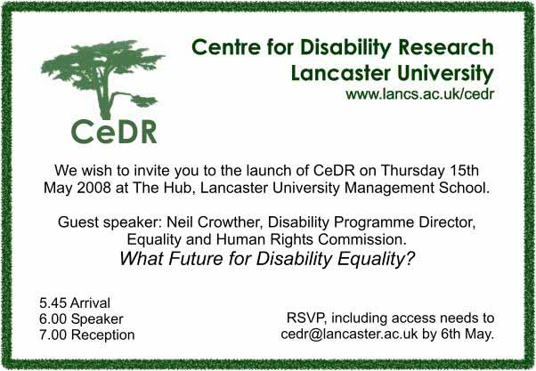 cedr launch invitation