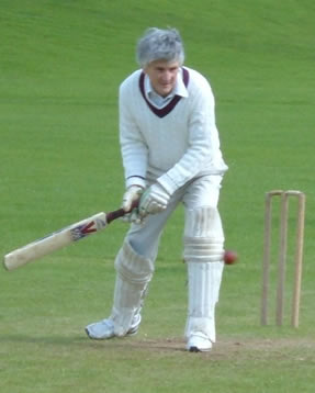 Dr Sandy Grant at the Staff-Postgraduate Cricket Match