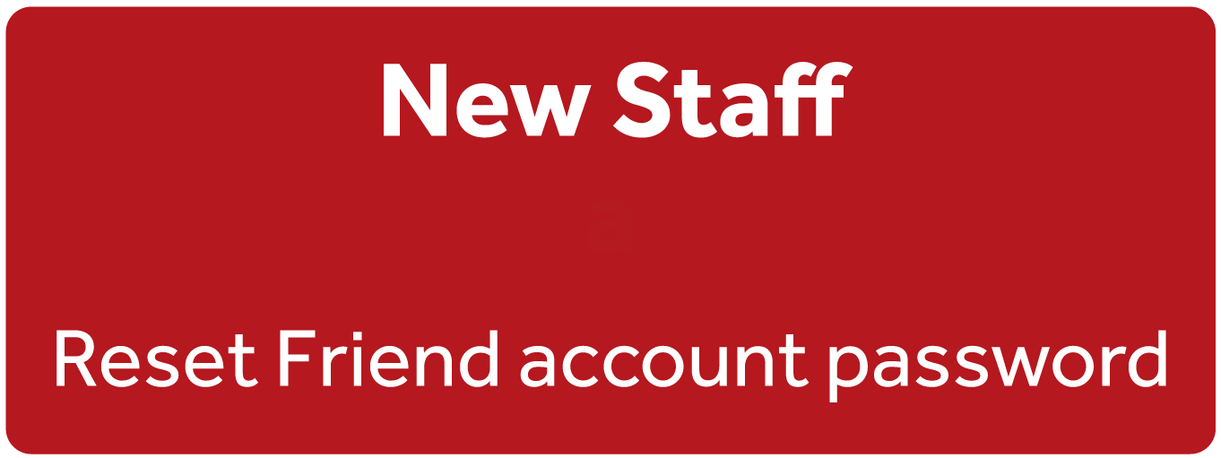 Reset password for new staff