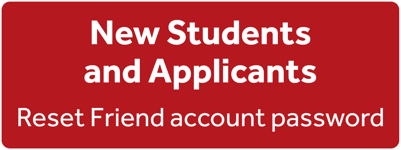 Reset password for new students and applicants