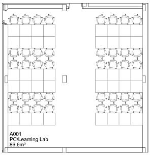 Floor plan of Computer Lab (A001c)