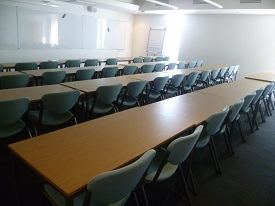 Sample layout of Management School Lecture Theatre 11