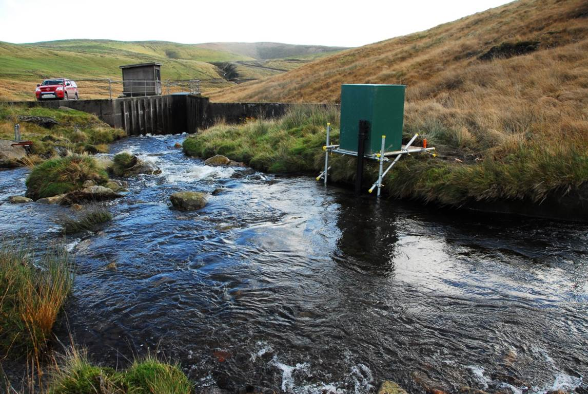 Gwy flume & DURESS water quality station, Plynlimon © NA Chappell