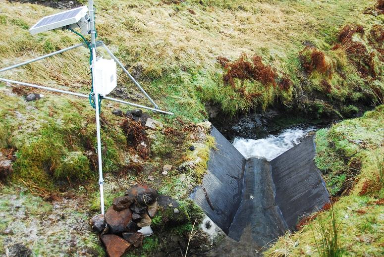 Lancaster flume for gauging streamflow in the LI7 (Nant Rhesfa) basin © NA Chappell