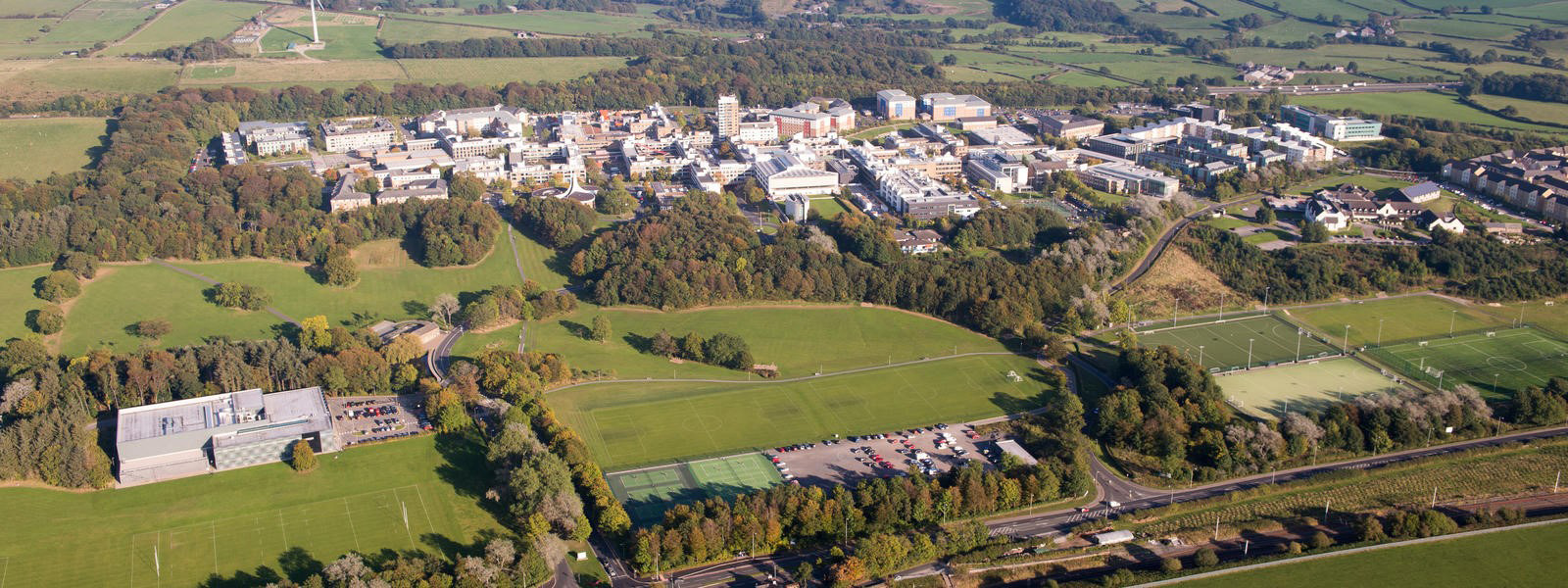 Image of Lancaster University from the sky