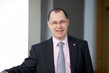 Portrait of Professor Mark E. Smith the Vice-Chancellor of Lancaster University
