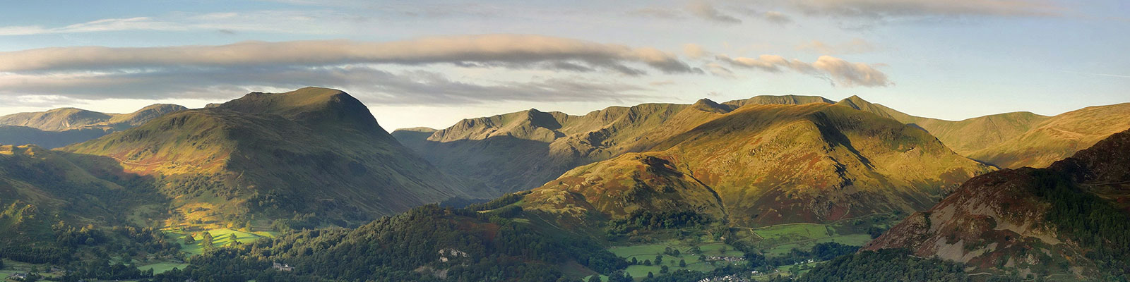 panoramic view of The Lake District