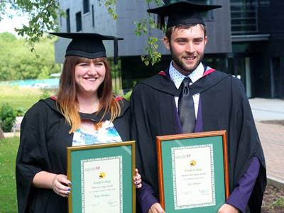 Final year students with awards