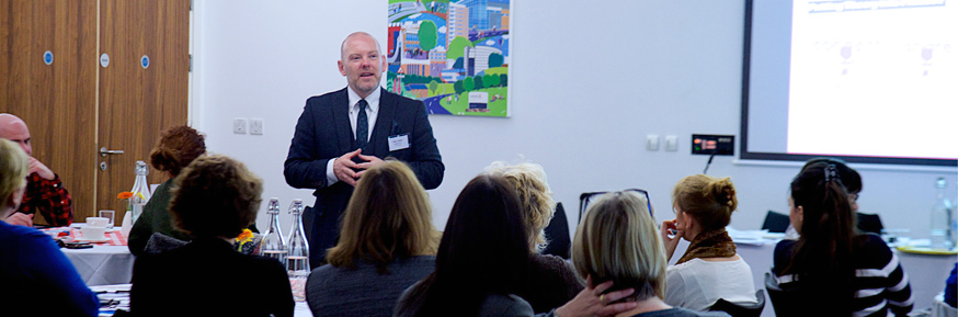 Paul Taylor, Assistant Director for Organisational Development, NHS Employers, gives a talk at the event