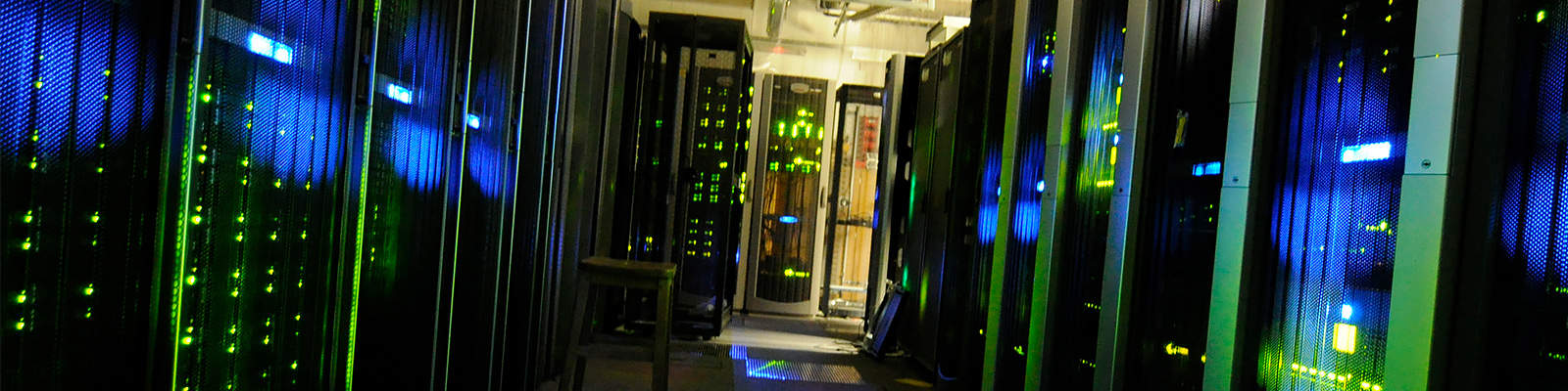 A rack of computer servers